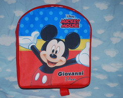 MOCHILA PERSONALIZDA DO MICKEY