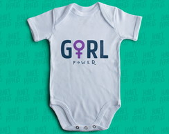 BODY ROUPA BEBE GIRL POWER - FEMINISTA