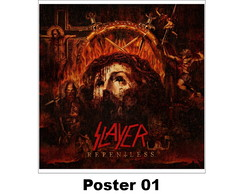 Poster Cartaz Heavy Metal 30x30 Slayer