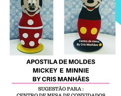 APOSTILA DE MOLDES MICKEY E MINNIE BY CRIS MANHÃES