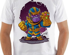 Camiseta Camisa Masculina thanos cartoon infinity war