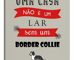 Placa Decorativa em MDF Cachorro Border Collie 20x30
