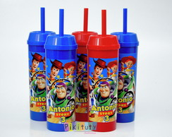 Copo Long Drink c/ canudo Toy Story