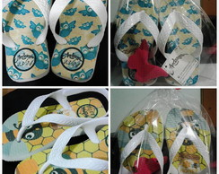 kit Chinelo Infantil estampado