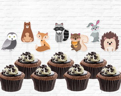 Topper Bosque Cupcake