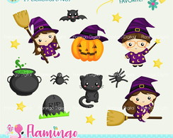 Cliparts Bruxinha Halloween