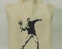 Sacola Ecobag - Silk screen Banksy