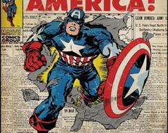 Adesivos Barato Captain America Retro Comic