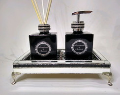 Kit lavabo luxo Black prata