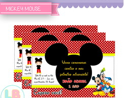 Convites Digital Mickey Mouse