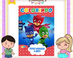 Revistinha de colorir PJ MASKS