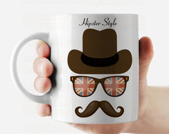 Caneca Hipster Style - Mustache 904