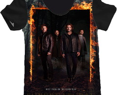 camiseta estampa total Supernatural feminino