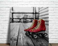 Placa Decorativa Patins Vintage