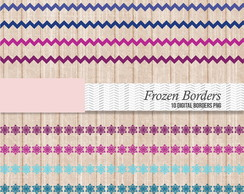 bordas frozen Kit Digital scrapbook + brinde