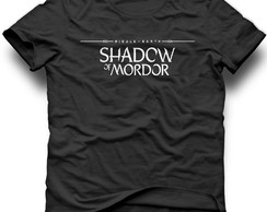 camiseta shadow of mordor games jogos