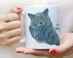 Caneca Gato British Shorthair - 1039