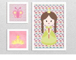 "Kit 3 quadros ""Princesa"""