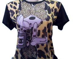 camiseta minnie estampa total feminino