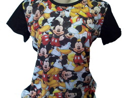 camiseta mickey estampa total feminino
