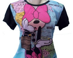 camiseta Minnie Mouse estampa total feminino #3