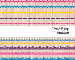 Bordas Little Pony Kit Digital scrapbook + brinde