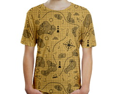 Camiseta Masculina Mapa Do Tesouro