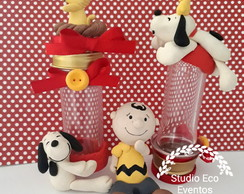 lembrancinhas do snoopy biscuit - tubetes