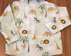 bbc6482a1b ... Camisa infantil Safari azul manga longa