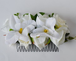 ARRANJO FLORAL PARA CABELO NATURAL WHITE BEAUTY