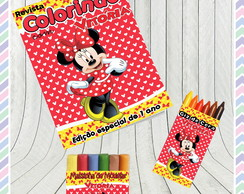 Kit Colorir com Massinha Minnie Vermelha