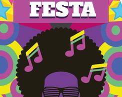 Convite Festa Retro Anos 60 70 80 Digital Envie Por Whatsapp No Elo7