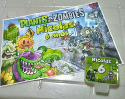 Papel Arroz + Vela Plants vs Zombies