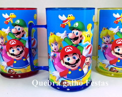 Caneca Mario Bros Personalizada 400Ml Colorida