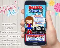Convite Digital Spider-Girl para Whatsapp