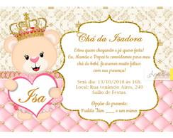 Convite Cha De Bebe Ursa Princesa Elo7