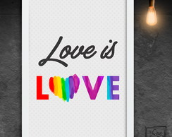 Love is Love - A4
