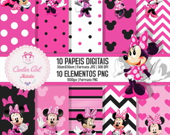 Papel Digital Minnie + Elementos PNG