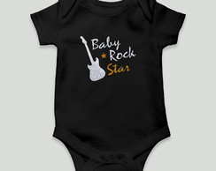 body bebe divertido baby rock algodao unissex