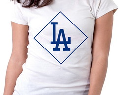Blusa feminina baby look camiseta Dodgers LA Los Angeles