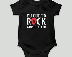 body bebe divertido rock com o titio unissex