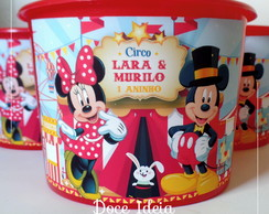 Balde Pipoca - Circo do Mickey e da Minnie