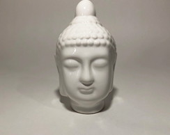 DECOR BUDHA HEAD - BRANCO