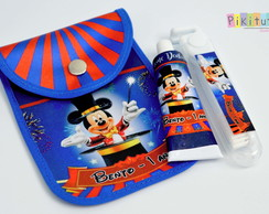 Kit Dental c/ porta escova Circo do Mickey