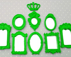 Kit 8 Mini Espelhos Decorativos Com Molduras Vintage