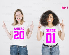Kit 2 Camisetas Amigas Desde 20 01 best friends