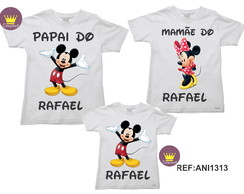Kit 3 Camisetas Aniversario Mickey e Minnie 01