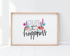 Create your own happiness. Lettering. Download