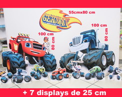 Totens Blaze Monster Machine+Displays de mesa