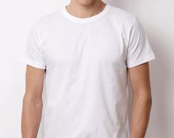 36b65d3dba95d Camiseta 100% Algodão Sem Estampa cor Branca tamanho P no Elo7 ...